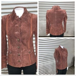 NWT Montanaco suede leather jacket size small